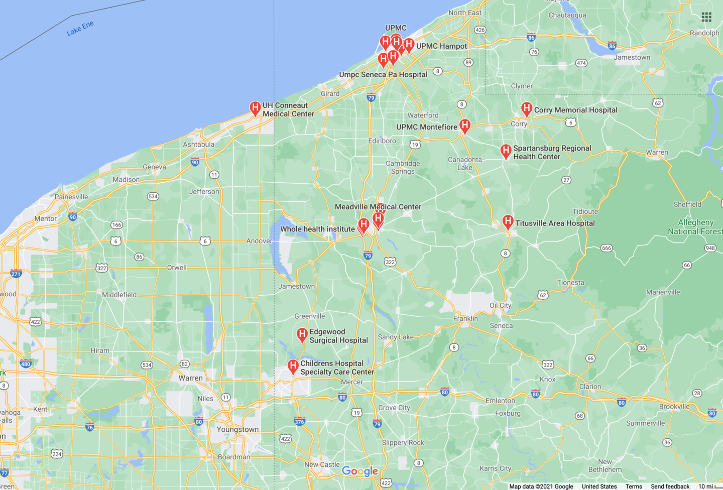 google-map-with-hospitals